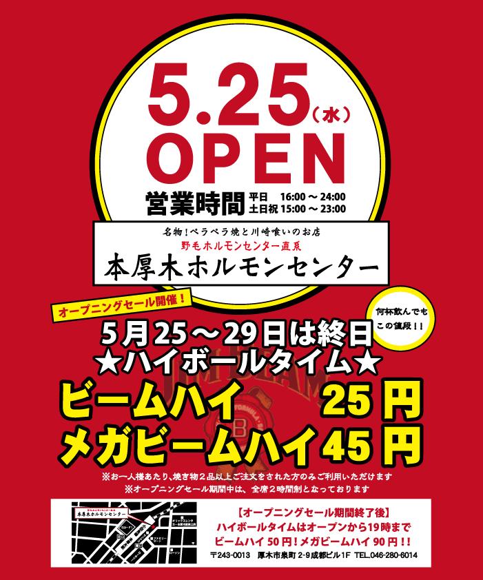 本厚木 オープン告知2 2016.5.23
